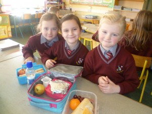Bord Glas sharing healthy food tips.