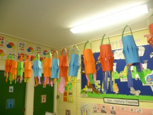We made lovely lanterns to celebrate Chinese New Year in infants.