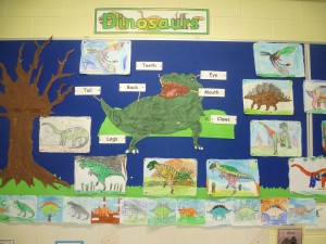 We designed our own dinosaurs and learned about their body parts